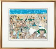 Sale 9023H - Lot 67 - WILLIAM FRANCIS ROBINSON,Summer Self Portrait # 1 Colour Lithograph ed.81/100 Signed dated LR 2004 image size -48x 57cm in a gilt...