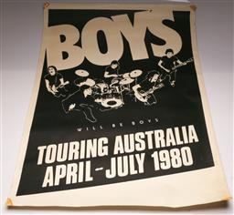 Sale 9136 - Lot 76 - Boys Will Be Boys Large Gig Poster (102cm x 76cm)