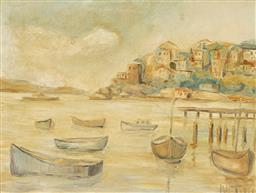 Sale 9214 - Lot 504 - ROBERT CAMPBELL (1902 - 1972) Neutral Bay, c1930s oil on board 34 x 43 cm (frame: 43 x 54 x 4 cm) inscribed verso
