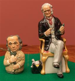 Sale 9260M - Lot 40 - A Royal Doulton figure The Doctor (H 19cm) together with Royal Doulton The Physician
