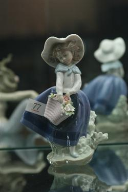 Sale 7907 - Lot 77 - Lladro Figure of Girl with Flowers