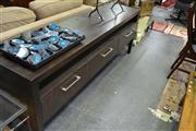 Sale 8138 - Lot 926 - Modern Ebano and Wenge TV Entertainment Unit with Soft-close Drawers
