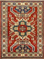 Sale 8345C - Lot 28 - Afghan Super Kazak 174cm x 132cm