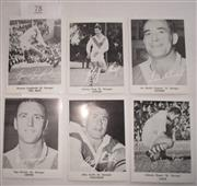 Sale 8404S - Lot 78 - St. George Daily Mirror Cards 1967 – Graeme Langlands, Johnny King, Ian Walsh, Reg Gasnier, Billy Smith, Johnny Raper