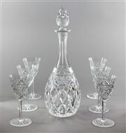 Sale 8444A - Lot 14 - A pretty Grimwade hand cut lead crystal decanter with six matching glasses, H of decanter 19cm
