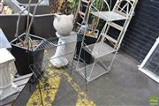 Sale 8532 - Lot 1230 - Two Metal Plant Stands