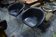 Sale 8550 - Lot 1067 - Pair of Leather Tub Chairs