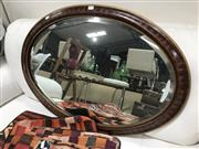 Sale 8881H - Lot 16 - A square bevel edged mirror in a gilt timber frame. Height 84cm X Width 60cm