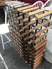 Sale 8889 - Lot 1427 - Collection of Timber and Metal Wine Racks