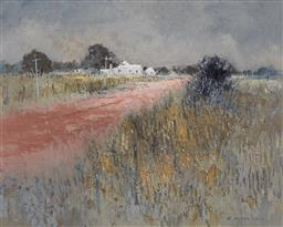 Sale 9180A - Lot 5012 - COLLEEN PARKER (1944 - 2008) Right on the Farm oil on board 40 x 50 cm (frame: 60 x 70 x 5 cm) signed lower right