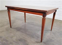 Sale 9188 - Lot 1559 - French style extension dining table (h:77 w:131 d:75cm)