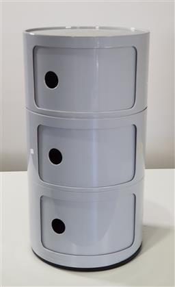 Sale 9210 - Lot 1071 - Kartell style cylindrical table - loose base (h59 x d32cm)