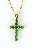 Sale 3808 - Lot 445 - A 10CT GOLD EMERALD CROSS;