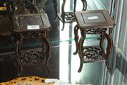 Sale 8014 - Lot 26 - Chinese Carved Timber Pair of Stands