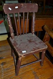 Sale 8013 - Lot 1405 - Kids Timber Chair