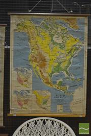 Sale 8287 - Lot 1088 - H.E.C Robinson Vintage School Map of North America