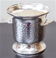 Sale 8279A - Lot 39 - A small plated ice bucket with hammered finish, height 13cm