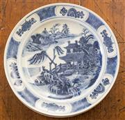 Sale 8284A - Lot 40 - Four Chinese blue and white plates, marks to base, Dia. 22cm