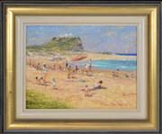 Sale 8344 - Lot 505 - Dale Marsh (1940 - ) - Bright day Nobbys Beach, 1994 29 x 40cm