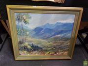 Sale 8613 - Lot 2019 - Artist Unknown - The Country Valley, oil on board, 61 x 71 frame, unsigned