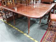 Sale 8693 - Lot 1031 - Victorian Mahogany Drop-Leaf Dining Table, with turned legs & gateleg action