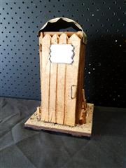 Sale 8979 - Lot 1048 - Small Decorative Timber Outhouse H: 22.5cm