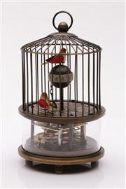 Sale 9040 - Lot 90 - A Reproduction Bird Cage Clock (Untested, H 16cm)