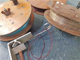 Sale 9254 - Lot 2293 - Collection of vintage fishing reels and creel
