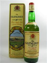 Sale 8278 - Lot 1746 - 1x The Glenlivet Classic Golf Courses of Scotland - Turnberry 12YO Limited Edition Single Malt Scotch Whisky - in canister