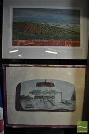 Sale 8487 - Lot 2074 - 2 Joy Redmans End 1 Mile, 1/20; Suburban Squeeze, 9/12;  Lithographs, signed & titles in Mount