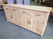 Sale 8611 - Lot 1075 - Parquetry Elm Sideboard with Three Drawers & Six Doors