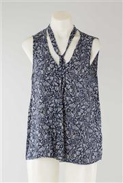 Sale 8740F - Lot 181 - A Velvet by Graham & Spencer floral print tie neck sleeveless tank top, size S
