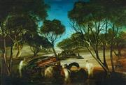 Sale 8791 - Lot 525 - Kevin Charles (Pro) Hart (1928 - 2006) - Landscape and Carwrecks, 1972 30 x 44.5cm
