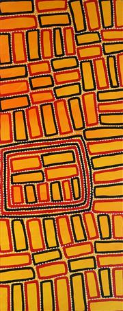 Sale 8862A - Lot 573 - Walala Tjapltjarri (1960 - ) - Tingari 56 x 142cm (stretched and ready to hang)