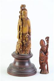 Sale 8852 - Lot 36 - Moulded Figure Of Shou Lao H: 21cm With Another