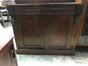 Sale 9014 - Lot 1049 - Early 19th Century Rosewood Veneered Chiffonier, with long drawer & two timber panel doors (some veneer losses, h:85 x w:104 x d:36cm)