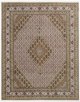 Sale 9181C - Lot 5 - Wool and Silk Pistachio tone finely knotted Jaipur Tabriz 310x243cm