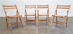 Sale 9188 - Lot 1771 - Set of 4 timber folding chairs (h80 x w50 x d54cm)