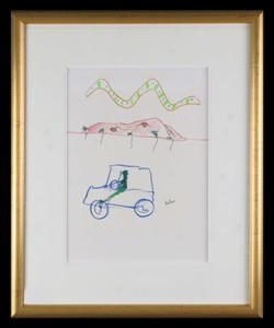 Sale 7923 - Lot 572 - Sidney Nolan - Car 35 x 25.5cm