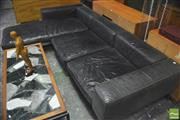 Sale 8310 - Lot 1040 - Flexform L Shaped Black Leather Lounge