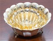Sale 8308A - Lot 57 - Excellent quality Italian silverplate and gilt caviar bowl. D: 19cm