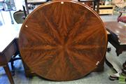 Sale 8520 - Lot 1028 - Victorian Mahogany Round Supper Table Top (only) with Radial Flame Veneers