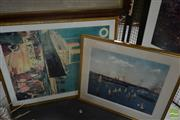Sale 8525 - Lot 2084 - Framed Decorative Prints (2): Charles Bryant Sydney Harbour & Oriental Shipping Line