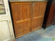 Sale 8648 - Lot 1012 - Vintage Timber Fitted Two Door Cabinet