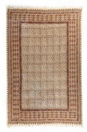 Sale 8760C - Lot 83 - A Piece Of Handmade Wood Block Printed Cotton With Fringing, Washable And Useable As A Table Cloth, Drapes, Etc, , 280 x 180cm