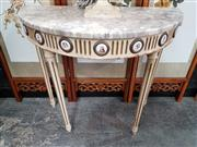 Sale 8777 - Lot 1008 - Demilune Hall Table with Marble Top