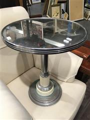 Sale 8795 - Lot 1053 - Art Deco Style Mirrored Top Side Table