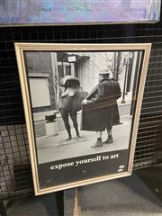Sale 9016 - Lot 2037 - Expose Yourself to Art Poster by Mike Ryerson, 61.5 x 46cm (Frame)