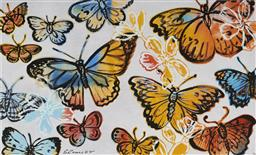 Sale 9099A - Lot 5019 - David Bromley (1960 - ) - Butterflies 75.5 x 126 cm (frame: 101 x 152 x 4 cm)