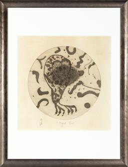 Sale 9130H - Lot 10 - John Olsen, Night Bird, etching on paper, edition number and titled to base, 29cm x 29cm
